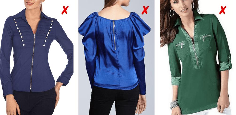 Молнии на блузках