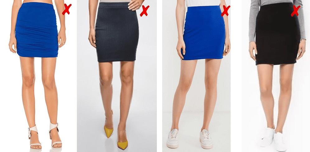 короткая трикотажная юбка