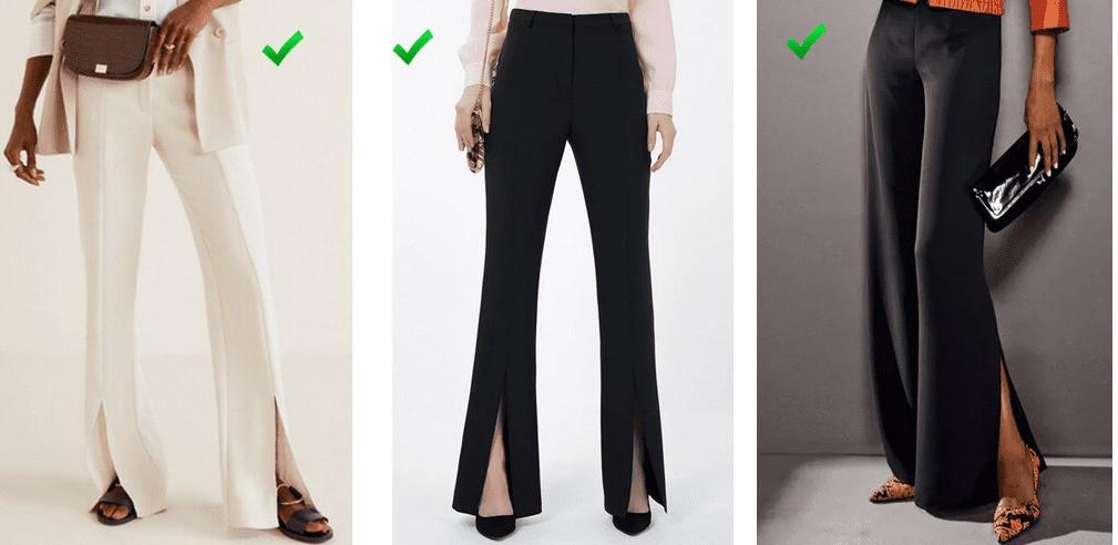 Разрезы на брюках