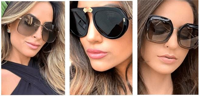 Солнцезащитные очки оверсайз в стиле 70-х